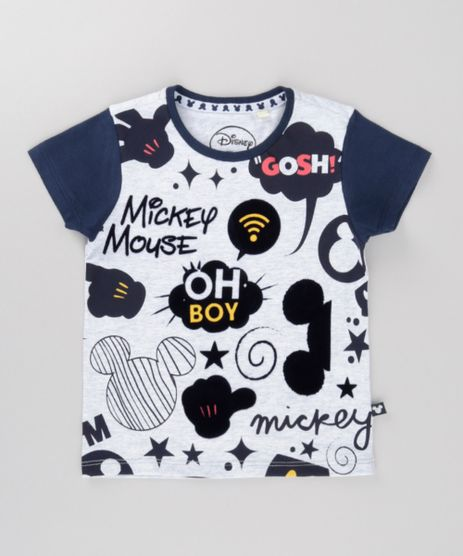 Camiseta-Mickey-Cinza-Mescla-Claro-8697938-Cinza_Mescla_Claro_1