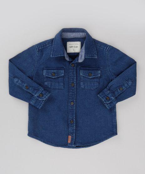 Camisa-Jeans-em-Algodao---Sustentavel-Azul-Escuro-8584208-Azul_Escuro_1