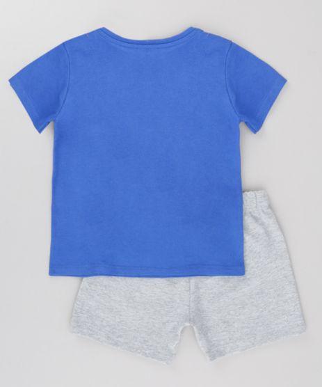 0891464179f480 Conjunto Bebê Camiseta Cinza Mescla E Bermuda Marrom – Name