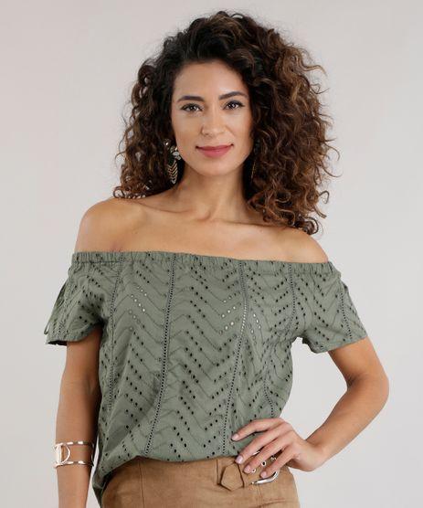 Blusa-Ombro-a-Ombro-em-Laise-Verde-Militar-8620931-Verde_Militar_1