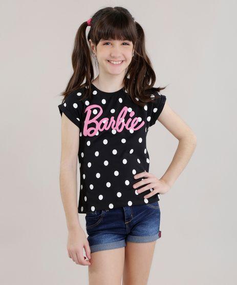 Blusa-Barbie-com-Estampa-de-Poa-Preta-8725429-Preto_1