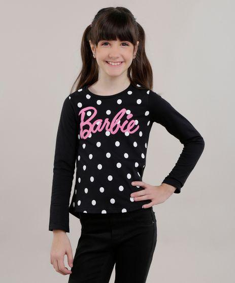 Blusa-Barbie-com-Estampa-de-Poa-Preta-8725422-Preto_1