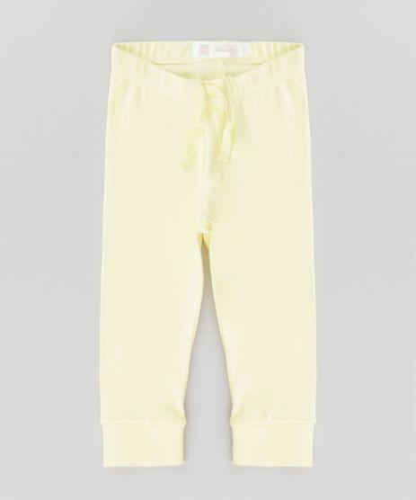 Calca-Basica-em-Algodao---Sustentavel-Amarelo-Claro-8585843-Amarelo_Claro_1