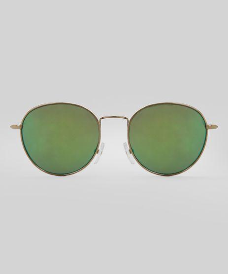 Oculos-de-Sol-Redondo-Feminino-Oneself-Dourado-8399998-Dourado_1