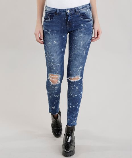 Calca-Jeans-Skinny-com-Respingos-Azul-Escuro-8676170-Azul_Escuro_1