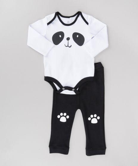Conjunto-de-Body--Panda--Branco---Calca-em-Moletom-Preta-8686109-Preto_1