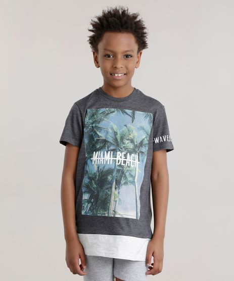 Camiseta-Longa--Miami-Beach--Cinza-Mescla-Escuro-8683621-Cinza_Mescla_Escuro_1