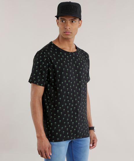 Camiseta-Estampada-de-Coqueiros-Preta-8704482-Preto_1