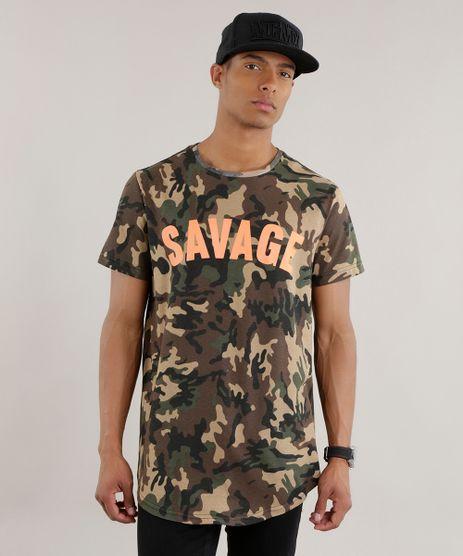 Camiseta-Longa-Estampada-Camuflada-Marrom-8703729-Marrom_1