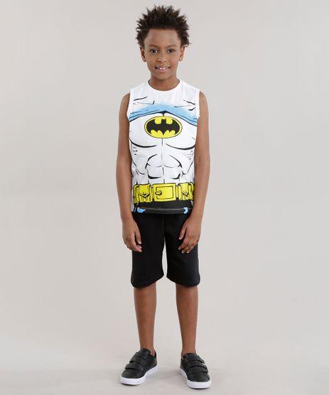 Conjunto-Batman-de-Regata-Branca--Bermuda-em-Moletom-Preta-8403980-Preto_1