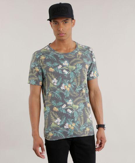 Camiseta-Estampada-Floral-Chumbo-8705295-Chumbo_1
