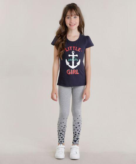 Conjunto-de-Blusa--Little-Jailor-Girl--Azul-Marinho---Calca-Legging-Cinza-Mescla-8692412-Cinza_Mescla_1