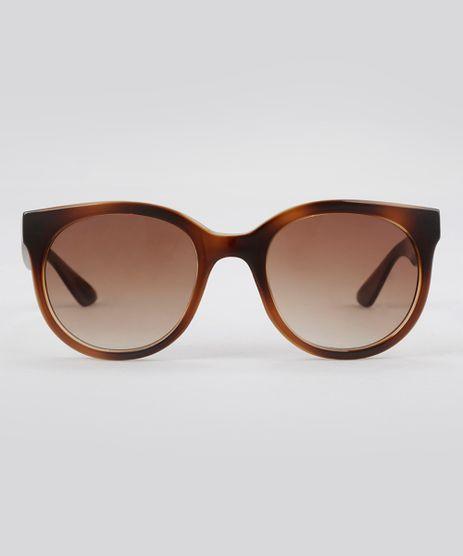 Oculos-de-Sol-Redondo-Feminino-Oneself-Tartaruga-8388834-Tartaruga_1