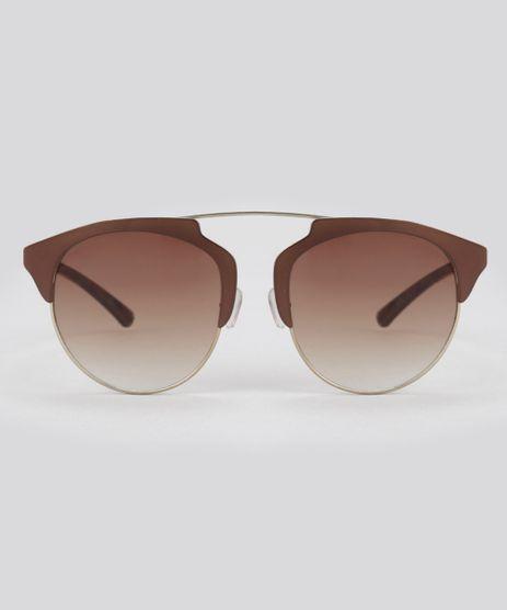 Oculos-de-Sol-Redondo-Feminino-Oneself-Dourado-8628905-Dourado_1