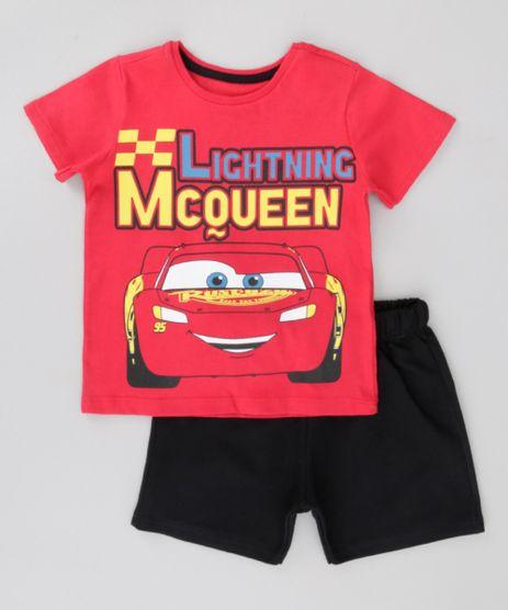 Conjunto-de-Camiseta-Vermelha---Bermuda-Carro-Preta-8702520-Preto_1