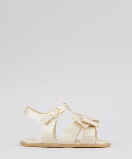 Sandalia-com-Laco-Metalizada-Dourada-8745487-Dourado_1