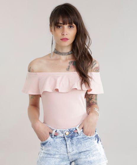 Blusa-Cropped-Ombro-a-Ombro-com-Babado-Rose-8706492-Rose_1