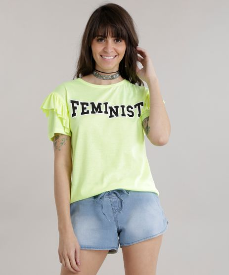 Blusa--Feminist--com-Babados-Amarelo-Neon-8762441-Amarelo_Neon_1