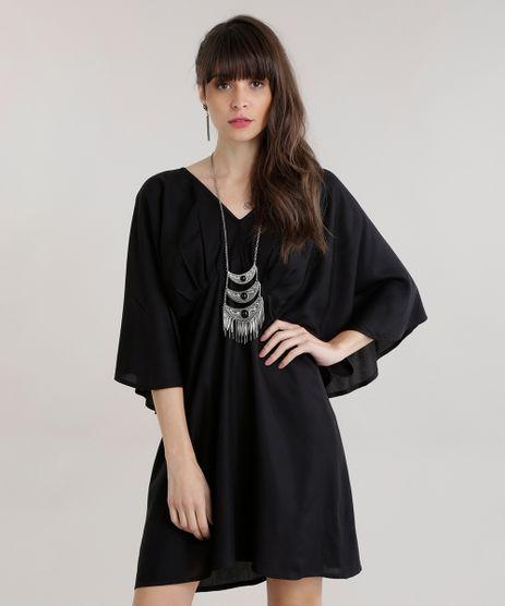 Vestido-Amplo-com-Lace-Up-Preto-8626022-Preto_1