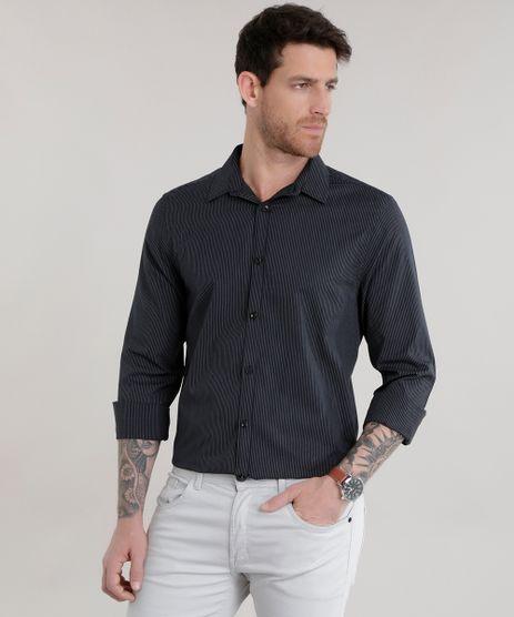 Camisa-Slim-Listrada-Preta-8587037-Preto_1