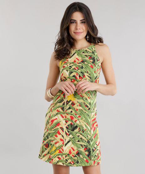 Vestido-Estampado-de-Folhagem-Verde-8651236-Verde_1