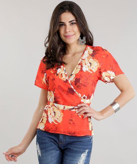 Blusa-Transpassada-com-Estampa-Floral-Laranja-8701481-Laranja_1