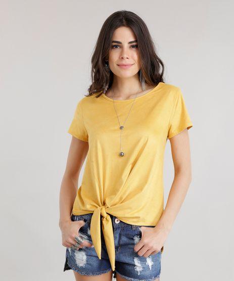 Blusa-Assimetrica-em-Suede-com-No-Amarelo-8740907-Amarelo_1
