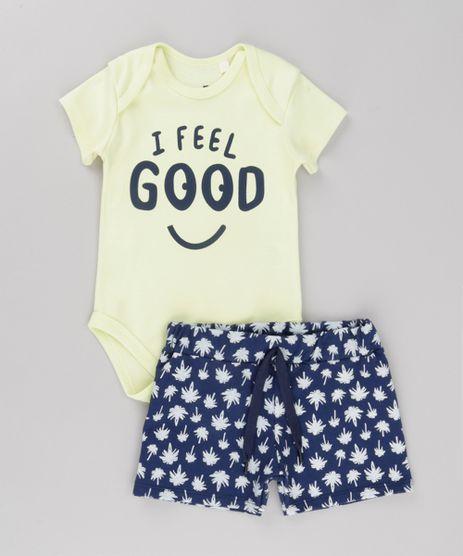 Conjunto-de-Body--I-Feel-Good--Amarelo-Claro---ShortEstampado-de-Coqueiros-em-Moletom-Azul-Marinho-8689012-Azul_Marinho_1
