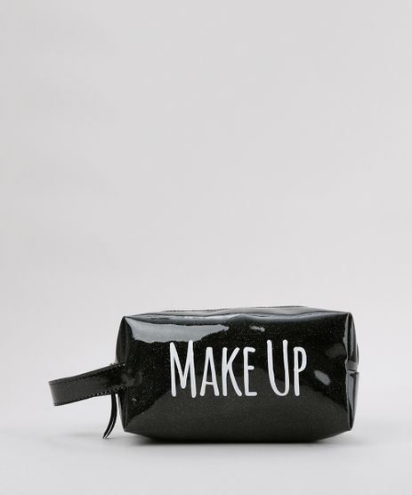 Necessaire--Make-Up--com-Glitter-Preta-8756182-Preto_1