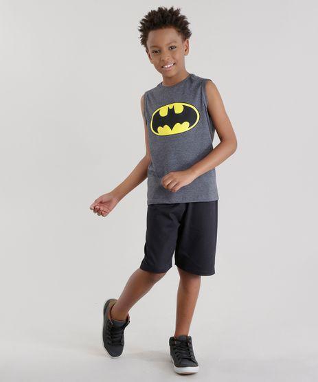 Conjunto-Batman-de-Regata-Cinza-Mescla---Bermuda-em-Moletom-Preta-8484293-Preto_1_1