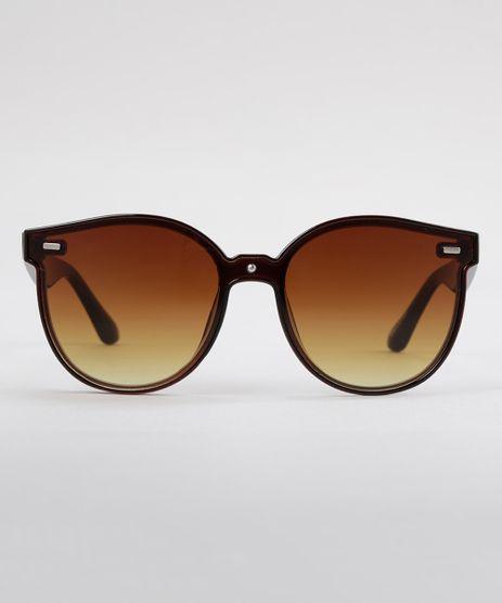 Oculos-de-Sol-Redondo-Feminino-Oneself-Marrom-8793051-Marrom_1