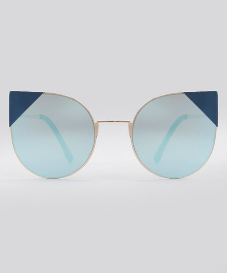 Oculos-de-Sol-Redondo-Feminino-Oneself-Dourado-8793042-Dourado_1