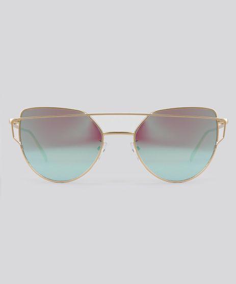 Oculos-de-Sol-Redondo-Feminino-Oneself-Dourado-8793645-Dourado_1