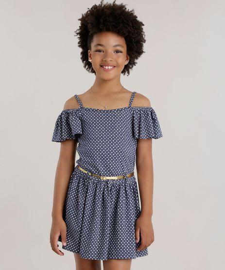 Vestido-Open-Shoulder-Estampado-Floral-com-Cinto-Metalizado-Azul-Marinho-8739776-Azul_Marinho_1