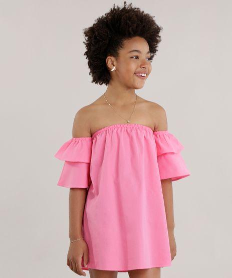 Vestido-Ombro-a-Ombro-com-Babados-Pink-8655897-Pink_1