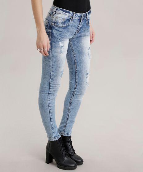 Calca-Jeans-Skinny-em-Algodao---Sustentavel-Azul-Medio-8556793-Azul_Medio_1