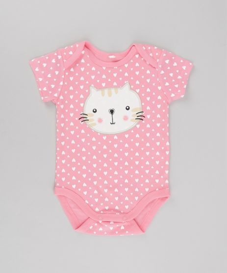 Body-Gato-Estampado-de-Coracoes-em-Algodao---Sustentavel-Rosa-8580371-Rosa_1