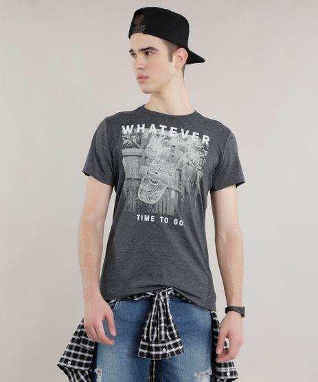 Camiseta---Whatever--Cinza-Mescla-Escuro-8707562-Cinza_Mescla_Escuro_1