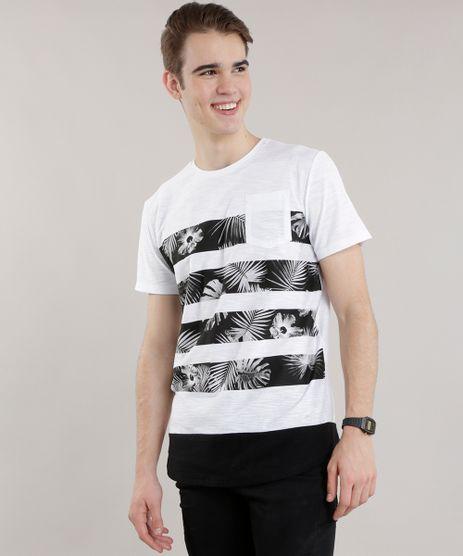 Camiseta-Longa-com-Estampa-de-Folhagem-Branca-8725436-Branco_1