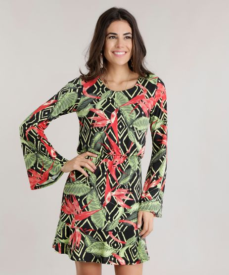 Vestido-Estampado-Floral-Preto-8742720-Preto_1