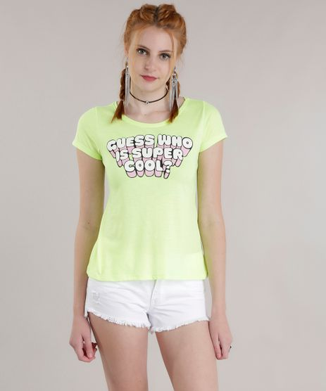 Blusa--Guess-Who-is-Super-Cool---Verde-Neon-8729366-Verde_Neon_1