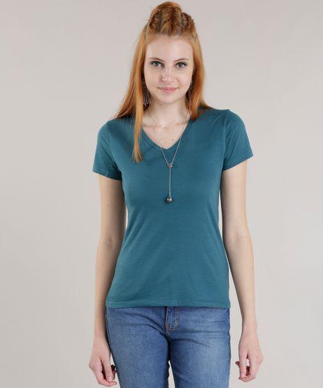 Blusa-Basica-em-Algodao---Sustentavel-Verde-Escuro-8591103-Verde_Escuro_1