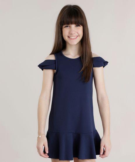 Vestido-Open-Shoulder-em-Jacquard-Azul-Marinho-8719833-Azul_Marinho_1