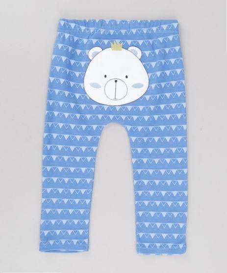 Calca-Estampada-Urso-em-Algodao---Sustentavel-Azul-8661647-Azul_1