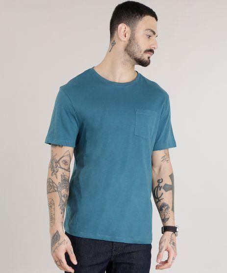Camiseta-Basica-em-Algodao---Sustentavel-Verde-Escuro-8618283-Verde_Escuro_1
