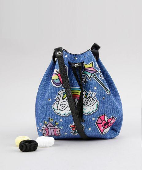 Bolsa-Saco-Estampada-Barbie---Elasticos-de-Cabelo-Azul-8770120-Azul_1