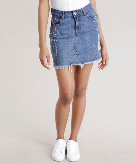 Saia-Jeans-Vintage-com-Respingos-Azul-Escuro-8736267-Azul_Escuro_1
