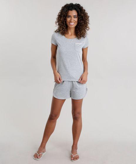 Pijama-com-Recorte-em-Veludo-Cinza-Mescla-Claro-8708495-Cinza_Mescla_Claro_1