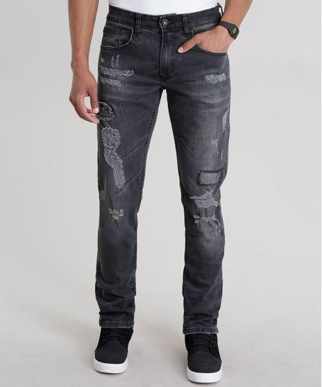 Calca-Jeans-Slim-Destroyed-Preta-8614409-Preto_1