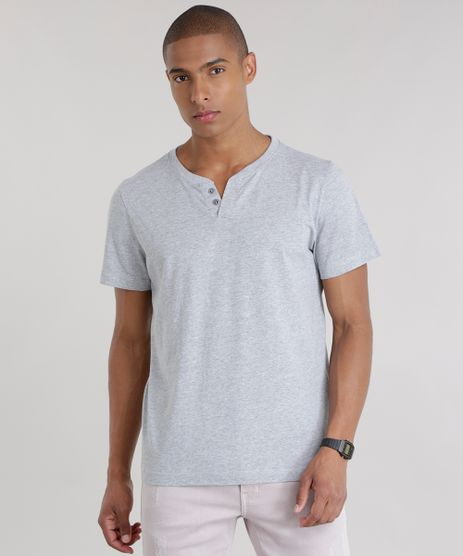 Camiseta-Basica-com-Botoes-Cinza-Mescla-Claro-8548679-Cinza_Mescla_Claro_1